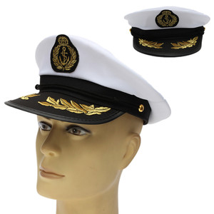 Yacht Captain Skipper Sailor Boat Cap Hat Costume Navy Ship Costume Party Fancy(China)