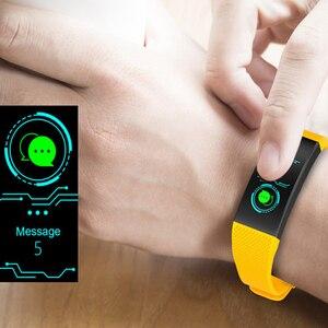 Image 5 - سوار ذكي IP68 مقاوم للماء Smartband معدل ضربات القلب النوم مراقب الرياضة passmeter جهاز تعقب للياقة البدنية بلوتوث Smartwatch.