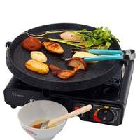 BBQ Barbecue Grill Plate Pan Smokeless Non Stick Gas Stove Portable Household Outdoor Travel Party Cooking Plate BBQ Tool