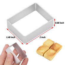10xRectangle Shape Stainless Pineapple Cake Cutter Press Stamp Mold Cookie Tool DIY Cake Bread Cake Cutter Leveler Kitchen Tools kitchen plastic pineapple style bread mold coffee