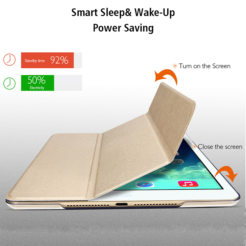 Tablet Case For Apple IPad Air 2 2014 A1566 A1567 3G LTE 9.7 Inch Magnetic PU Leather Smart Cover Auto Wake &Sleep Stand Cover