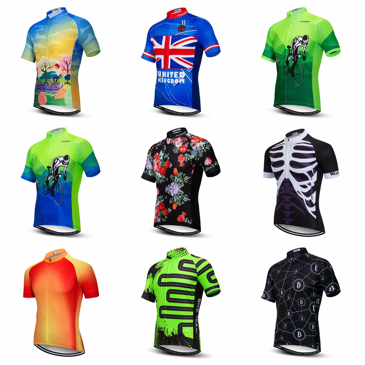 Weimostar Cycling Jersey Men Bike Shirt Breathable SHort Sleeve Summer Wear Tops