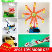 Happyxuan 5 sets/lot Kids diy Science Toys Experiments Reptile Robot Assemble Physics Models Kit Creative Educational Gift Boy(China)