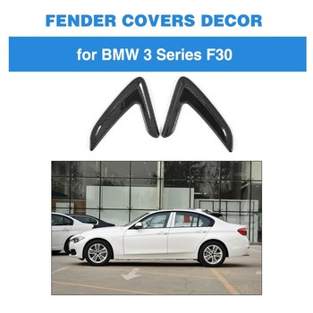 For BMW 3 Series F30 Base Sedan M Sport 2013 - 2018 ABS Carbon Look Decoration Door Fender Trim Air Vent image