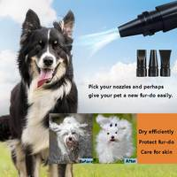 Pink/Black 2800W 220V Low Noise Pet Hair Dryer Dog Cat Grooming Dryer Heater Adjustable Blower 3pcs Nozzles 2 Meters Cable