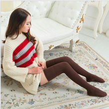 1 Pairs Women Boot Stockings 100% Cotton Knee-High Thick Winter Warm Soft Stockings Solid Fashion Comfort Warm Stockings 74CM