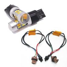 цена на 1Pair 7443 20SMD 5730 LED Bulbs Turn Brake Signal light Switchback White/Amber Error-Free Turn Signal Bulbs