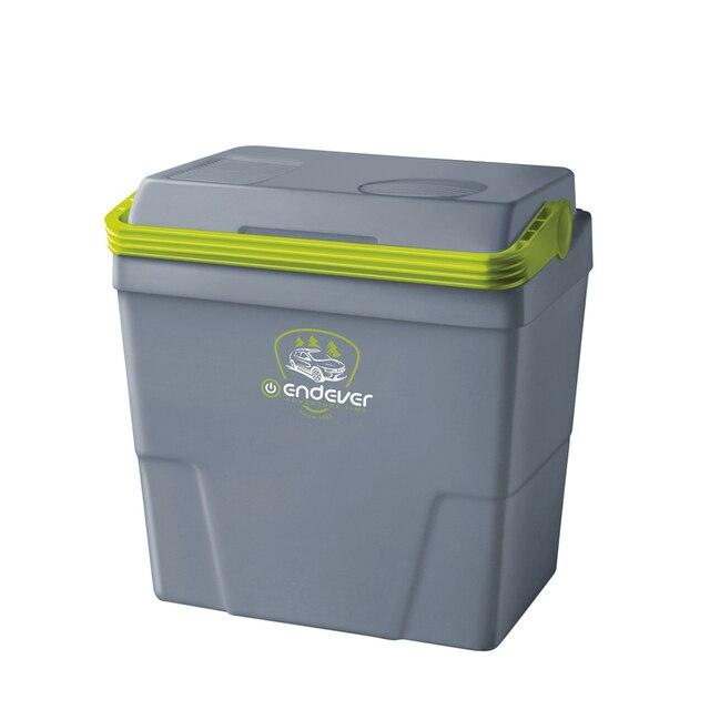 Холодильник автомобильный Endever VOYAGE-002 (Объем 16л, мощность 52 Вт, охлаждение и подогрев, работа от прикуривателя 12В)