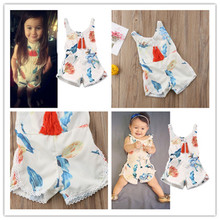 PUDCOCO Overalls Newborn Baby Girl Romper Floral Playsuit Sunsuit Summer Clothes Outfits 0-4Y