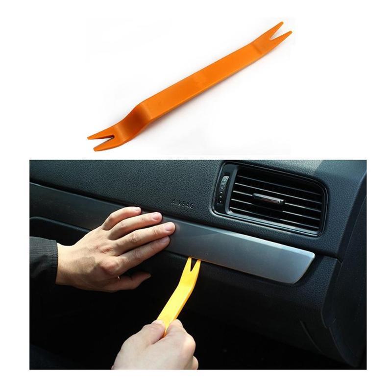 4pcs Professional Orange ABS Automobile Audio Door Clip Panel Trim Dash Audio Removal Installer Tool Radio Removal Pry Tools Set