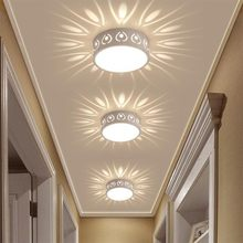 3 واط/5 واط LED مصباح السقف الحديثة اللون LED أضواء السقف الديكور الظل الممر الممر Lampara تركيبات إضاءة DA