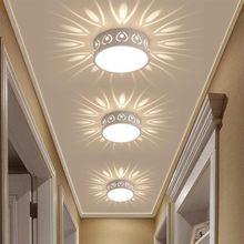 3W/5W LED lampa sufitowa nowoczesny kolor LED lampy sufitowe dekoracji cień korytarz alejek Lampara oprawy oświetleniowe DA