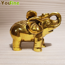 Chinese style bronze elephant sculpture home Feng Shui ornaments indoor office space decorations