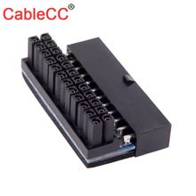 CableCC CY ATX 24Pin Female to 24pin Male 90 Degree Power Adapter Mainboard Motherboard for Desktops PC Supply atx 24pin to motherboard 2 port 6pin adapter power supply cable cord for hp z220 z230 sff mainboard server workstation 30cm