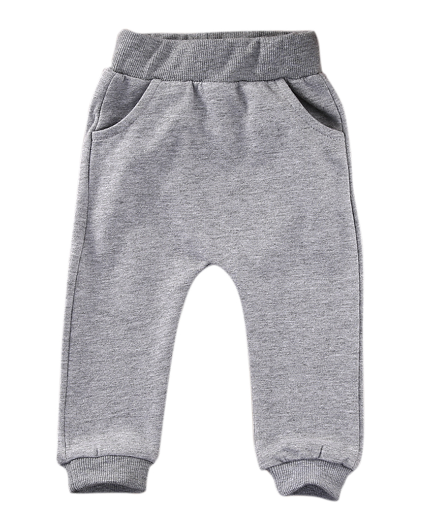 Pants Joggers Baby Trousers Sweatshirt Animal-Leggings PP With Pocket Black Pudcoco