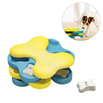 Juguete educativo de modelado de tornado óseo con capas de giro y giro para mascotas Tazón de alimentación lenta Juguete divertido para perros de peluche Gatos perro tornado
