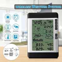 Беспроводной USB метеостанции и бытовой ЖК термометр гигрометр прогноз погоды сенсор атмосферное давление будильник с прогнозом погоды