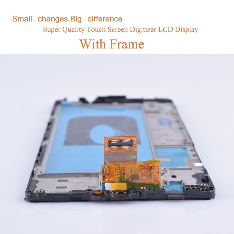 10Pcs lot For LG X power K220 K220DS F750K F750K LS755 X3 K210 US610 K450 LCD Display Touch Screen Digitizer Assembly with Frame in Mobile Phone LCD Screens from Cellphones Telecommunications