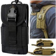 Универсальная армейская тактическая сумка для мобильного телефона, чехол с крючком, чехол с ремнем, чехлы для сотового телефона черного цвета