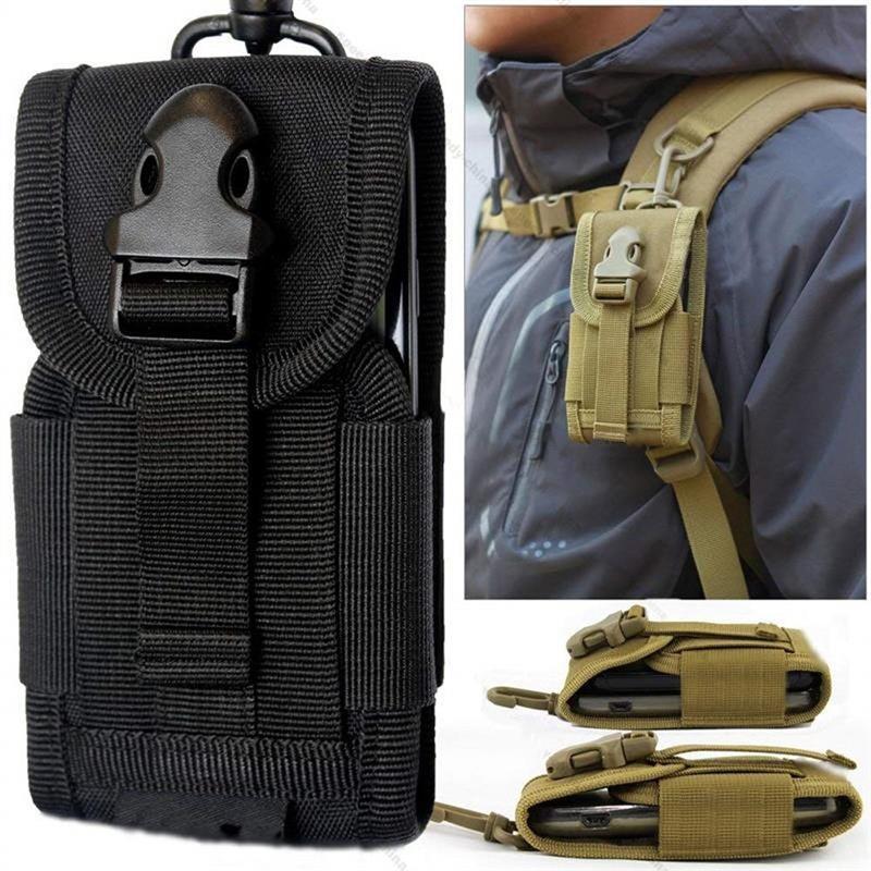 ユニバーサル陸軍タク携帯電話フックカバーポーチケースモールベルト携帯電話ポーチ黒