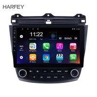Harfey Android 6.0/7.1/8.1 10.1 2DIN Car Radio For 2003 2004 2005 2006 2007 Honda Accord 7 GPS Multimedia Player Quad Core Wifi