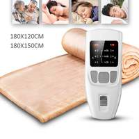 180cm Electric Blanket Dual Heating Body Warmer Bed Electric Heater Pad Winter Mattress Carpet W/ Temperature Timing Controller
