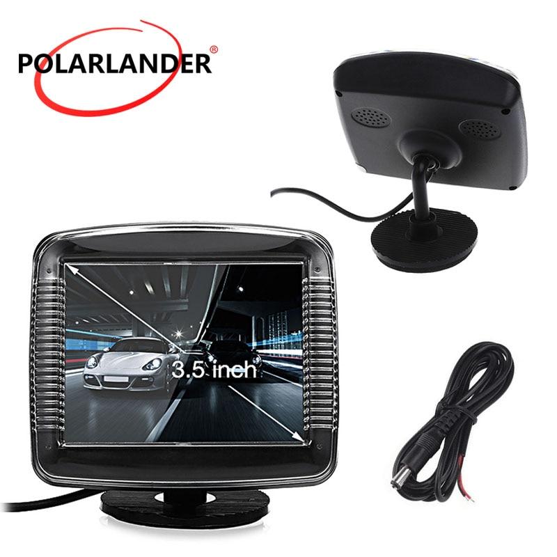 TFT LCD 3,5 zoll fahrzeug digital farbe auto auto monitor kleine display für rückfahr parkplatz backup-kamera
