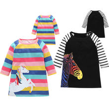 PUDCOCO Toddler Girls Kids Autumn Kids Clothes Long Sleeve Party Dresses Fashion Striped Child Girls Dress 1-6Y(China)