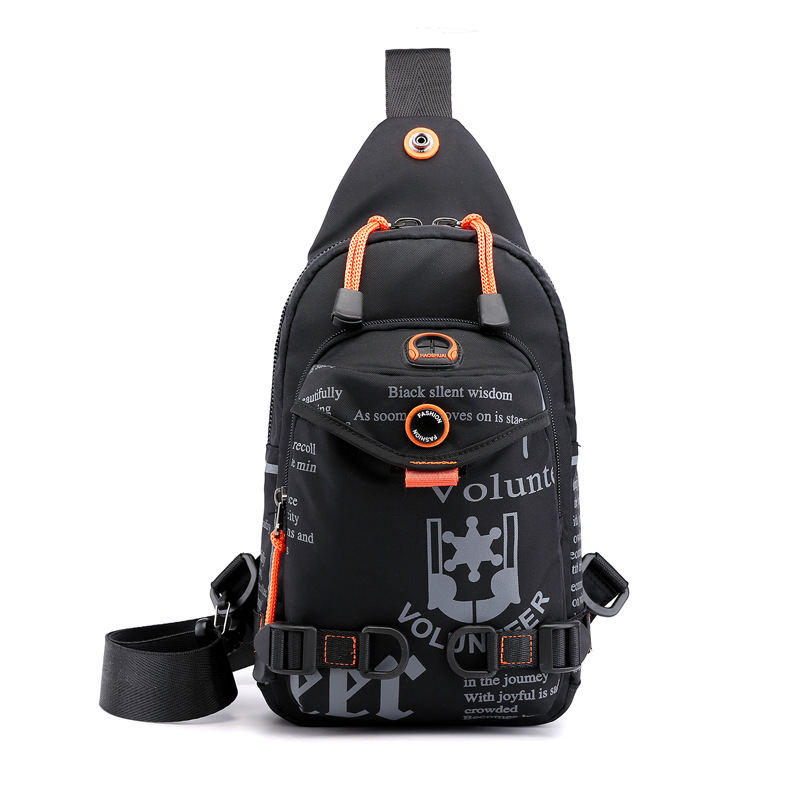 Image 3 - High Quality Nylon Men Chest Bag Rucksack Knapsack Brand Famous Travel Casual Male One Shoulder Bags Sling Backpack Daypack-in Backpacks from Luggage & Bags