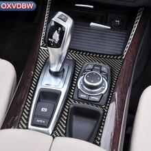 hot deal buy carbon fiber accessories refit car interior decoration sticker for bmw e70 e71 x5(2008-2013) x6(2009-2014) shift gear panel