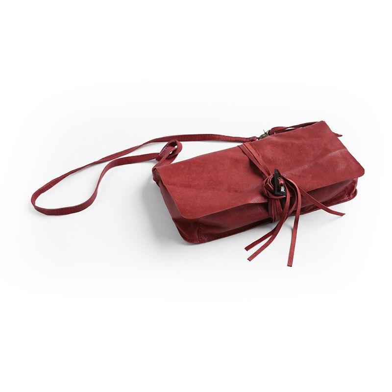 Сумка мессенджер из натуральной кожи, Маленькая женская сумка клатч с кисточками