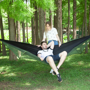 Image 4 - Ultralight Netting Hammock Automatic Unfolding Hunting Mosquito Protection Double Lifting Outdoor Furniture Hammock 250X120CM
