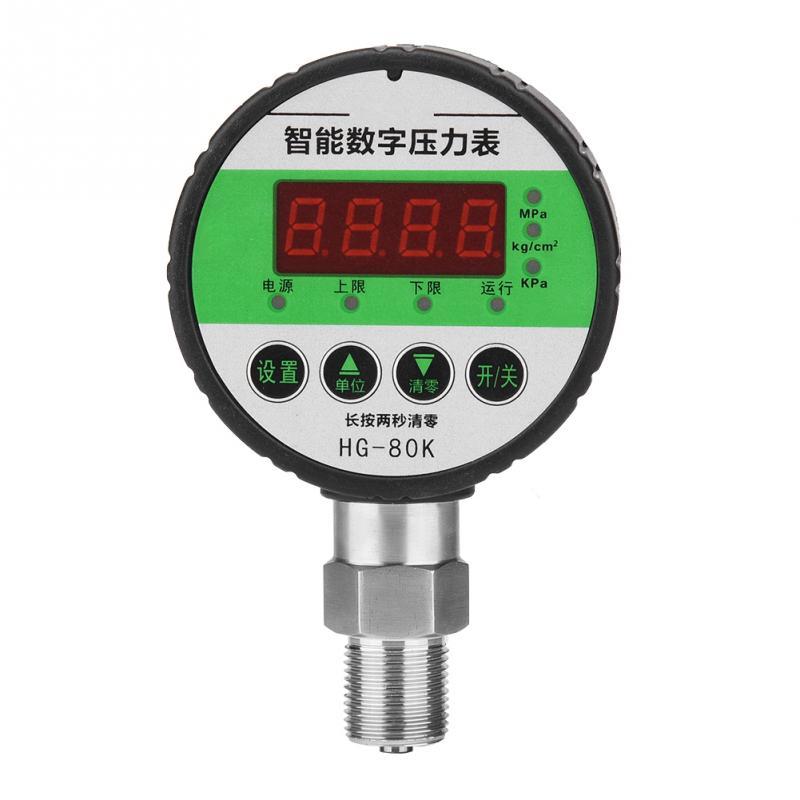 Manomètres affichage numérique pression d'huile manomètre hydraulique testeur de pression pour outils pneumatiques gaz eau huile fonctionnelle