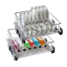 Corredera Dish Drainer Mutfak Kuchnia Stainless Steel Cuisine Cozinha Organizer Kitchen Cabinet Cestas Para Organizar Basket