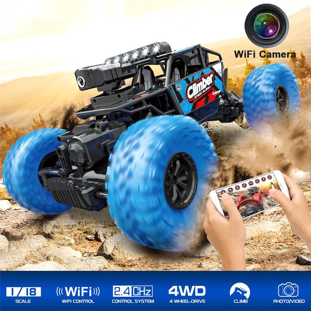 High Speed Rc Car Toy Hd Camera Wifi App Remote Control Cars 1 18 15km H 2 4g 4wd Off Road Buggy Off Road Truck Rtr Kids Toys