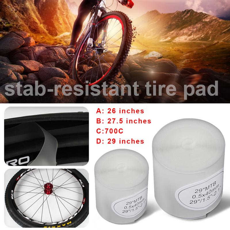 MTB Road Bike Tires Liner Puncture Proof Cycling Tyre Protection Pad LE