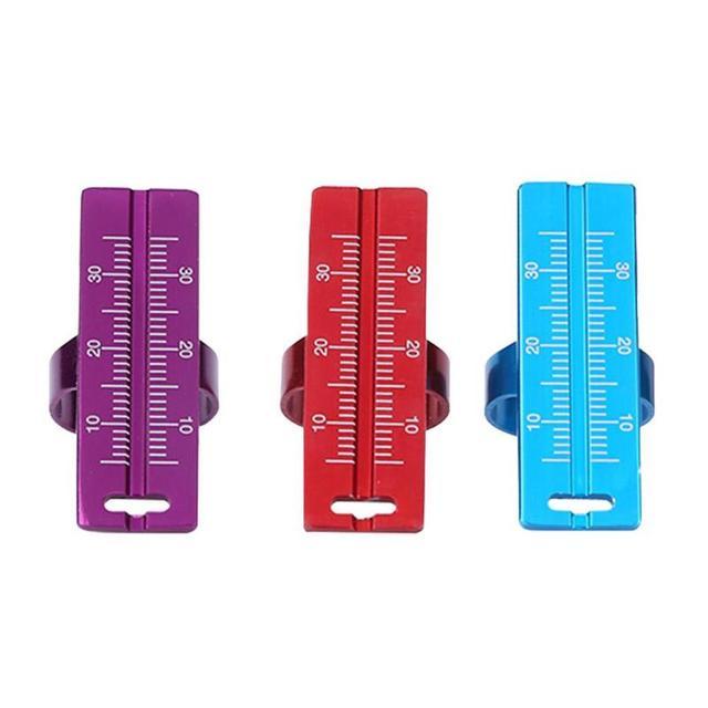 1 Pza regla de anillo Dental de Metal para la medición del alcance de Endo herramienta de medición del instrumento de dentista regla de anillo de dedo Dental herramienta de medición