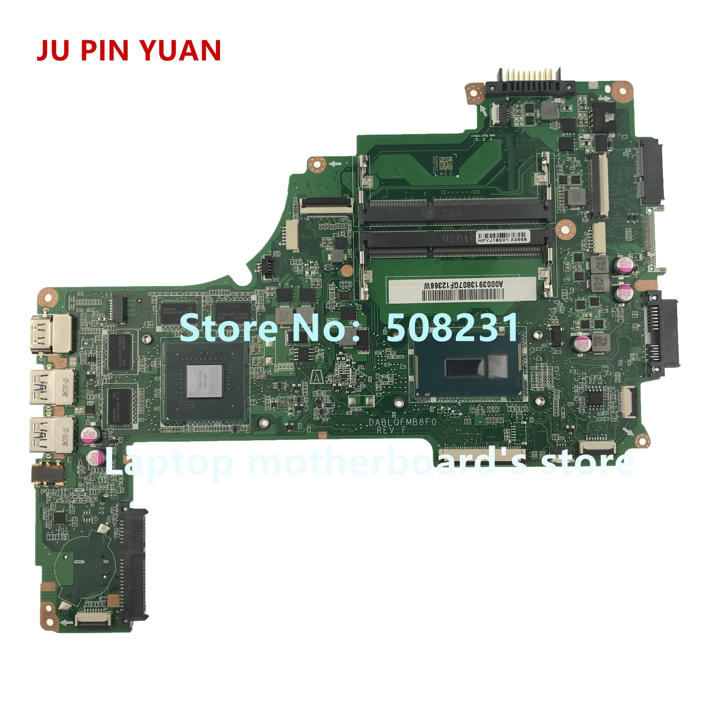 JU PIN YUAN A000391380 DABLQFMB8F0 Mainboard For TOSHIBA Satellite P50-C P55-C P50T-C Laptop Motherboard I7-5500U GTX950M