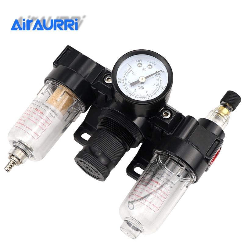 AC2000 1/4 BSPT Air Pressure Filter Regulator Lubricator 750 L/minAC2000 1/4 BSPT Air Pressure Filter Regulator Lubricator 750 L/min