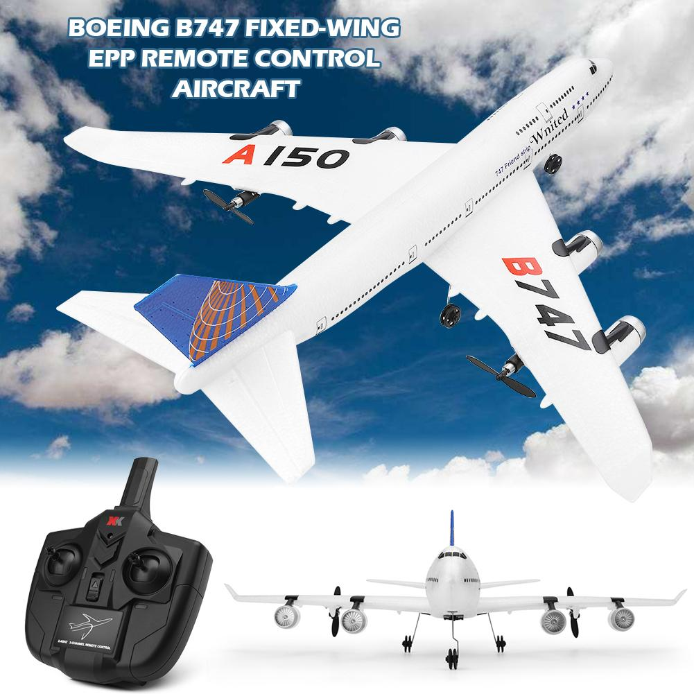 For Weili XKA150 3CH Remote Control Airplane Aircraft B747 Mode Fixed Wing EPP RC Fixed Wing Airplane Aircraft Drone for Kid For Weili XKA150 3CH Remote Control Airplane Aircraft B747 Mode Fixed Wing EPP RC Fixed Wing Airplane Aircraft Drone for Kid