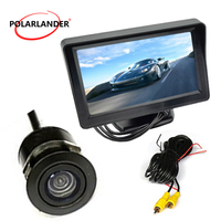 Car auto vehicel parking monitor 4.3 inch Waterproof Reverse Camera Mini Color TFT LCD Car auto vehicle 170 degree CAM