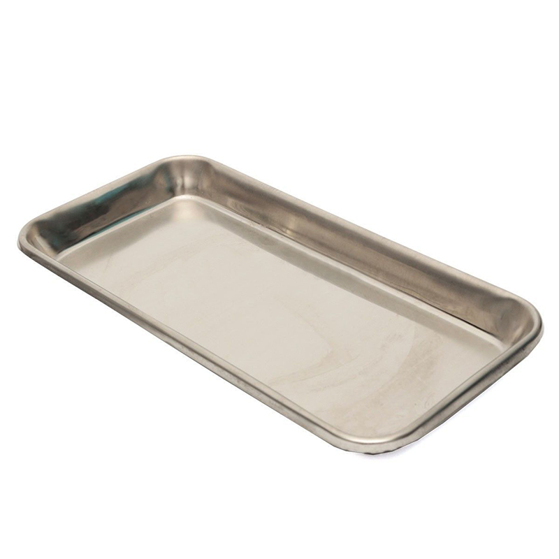 High Quality Stainless Steel Medical Surgical Dental Dish Lab Tray Instrument Storage Eco-friendly Convenient Tools 22X12X2cm
