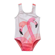 Toddler Kids Baby Girls Tankini Swimwear Swimsuit Flamingo Bathing Suits Swimming Costume