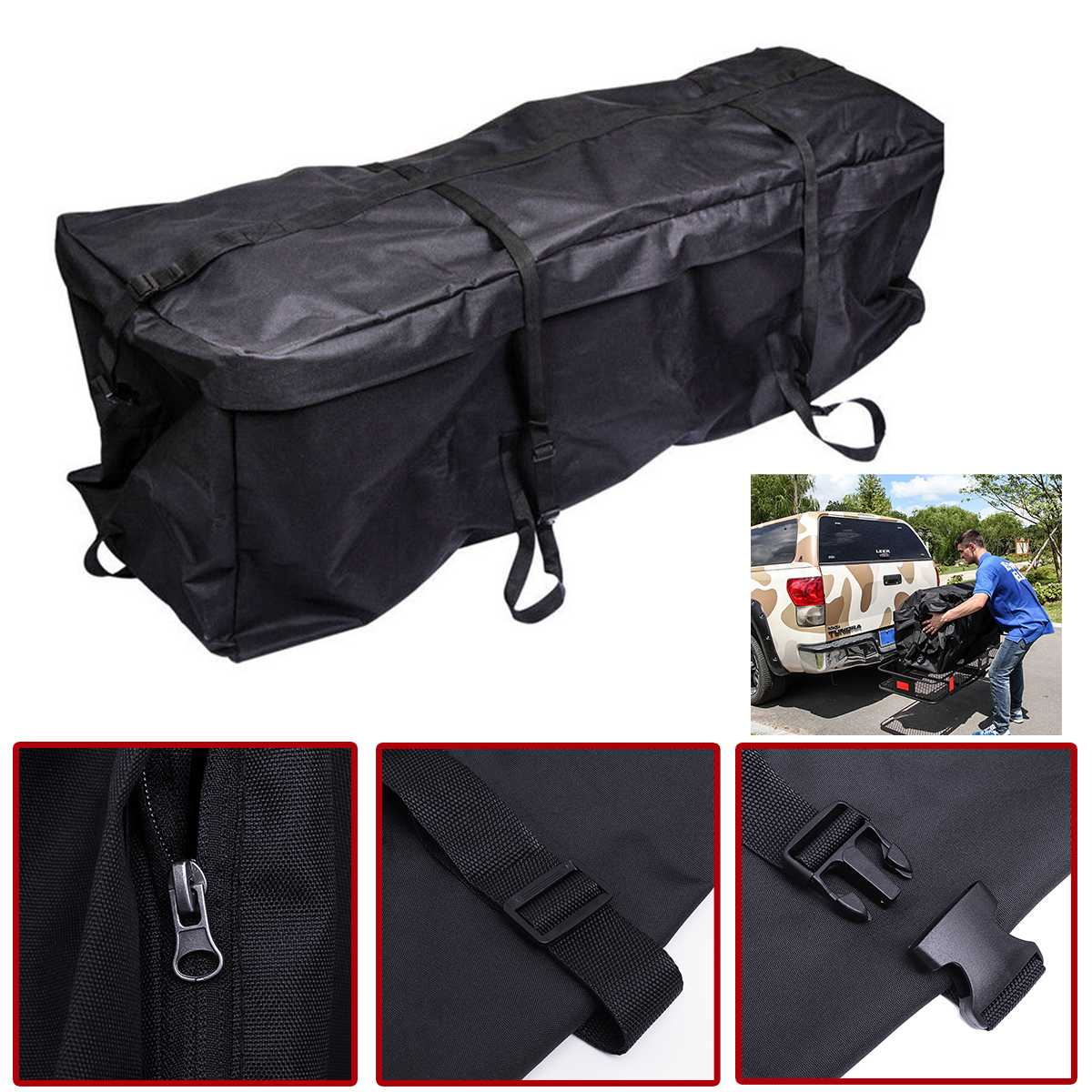 Universal Car Roof Top Bag Roof Top Bag Rack Cargo Carrier Luggage Storage Travel Waterproof Touring SUV Van for Cars Styling