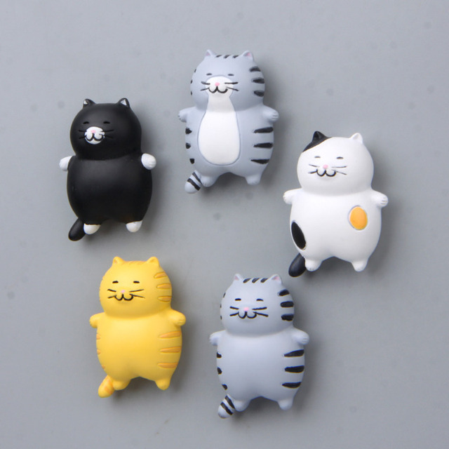 Fat Cat Magnetic Sticker 3D Action Figure Magnet Cartoon Pattern Fridge Magnet Stickers Children Educational Toy Birthday Gift