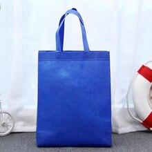 все цены на Reusable Shopping Bag Large Folding Tote Grocery Bag Convenient Storage Handbag Candy Color Eco Shopping Bags Blue Yellow онлайн