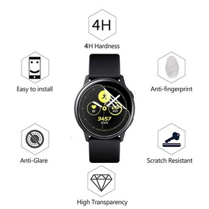 Image 3 - 3Pack For Samsung Galaxy Watch Active Active2 40mm 44mm Smart Watch 5H Nano Explosion proof Screen Protector HD Anti shock Film