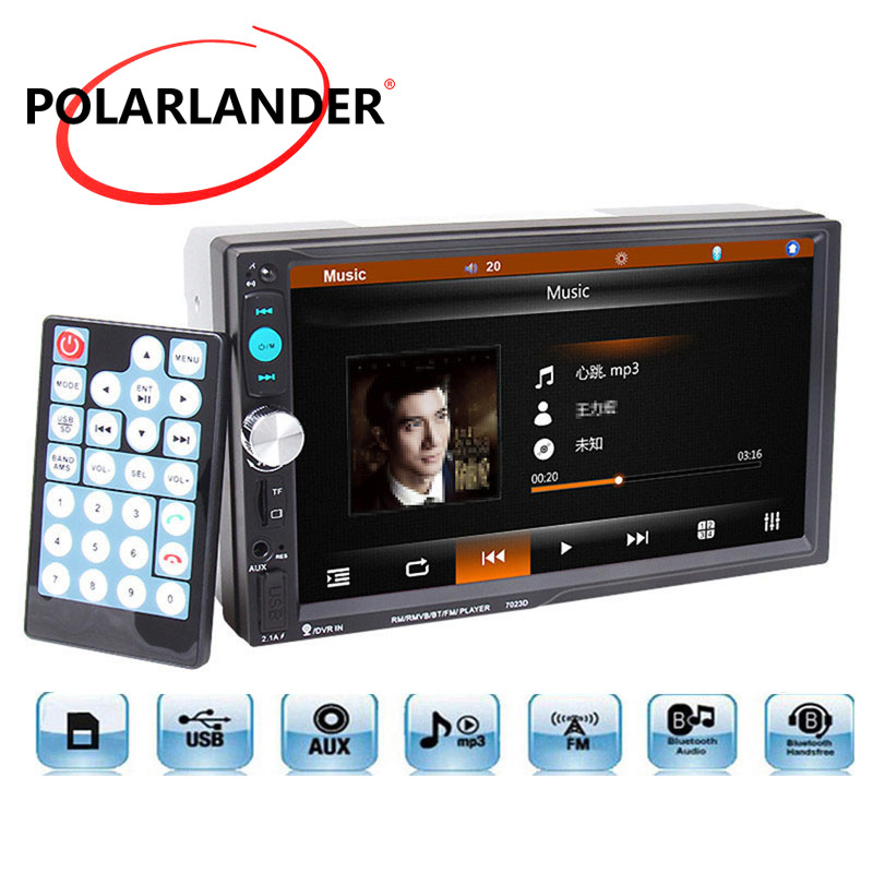 Mirror Link Audio Stereo Mutimedia <font><b>7023D</b></font> MP3/MP4/MP5 player With Rear View Camera 7'' Car Radio GPS Navigation Bluetooth 2 Din image