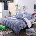 100% baumwolle königin größe bettwäsche blau palid bettdecke bettwäsche blatt für junge mädchen erwachsene 4 stücke bettbezug pillowecase hause textil-in Bettwäsche-Sets aus Heim und Garten bei