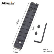 Alonefire Tactical Sporting Picatinny Weaver Rail Scope Mount Screws+Wrench Hunting Accessories Width 21mm Length 125mm-D0024